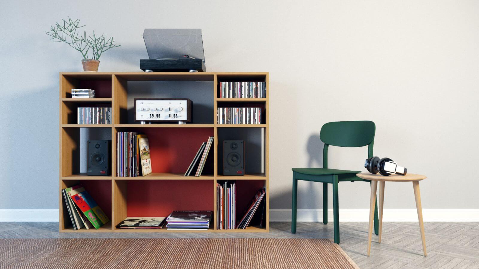 schallplattenregal online gestalten regale bei mycs. Black Bedroom Furniture Sets. Home Design Ideas