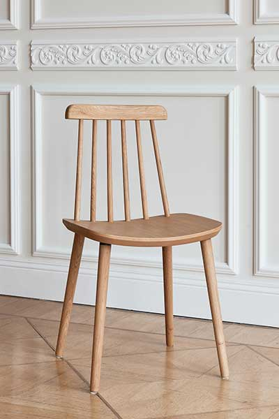 wooden chair inside classic interior