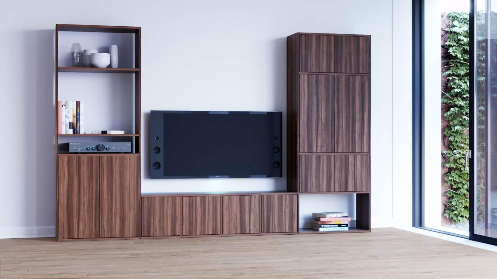 TV-Wohnwand selbst gestalten | Wohnwände bei MYCS