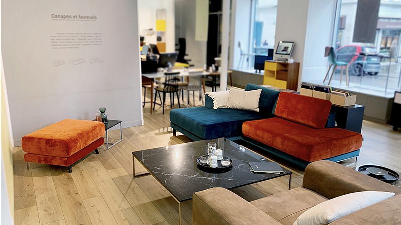 MYCS Showroom Paris Sofa Sitzecke